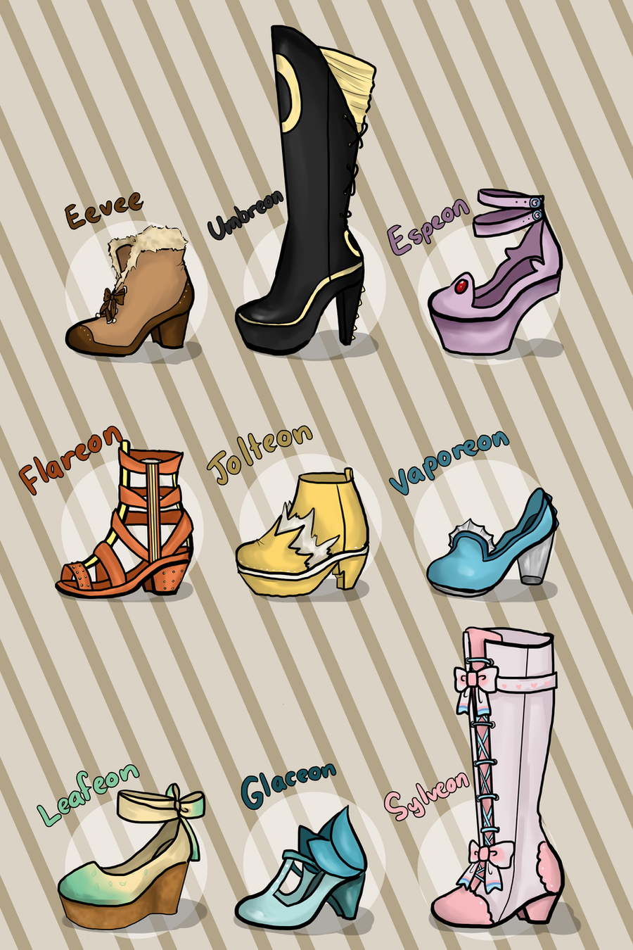 Eevolution Shoes by sirenlovesyou
