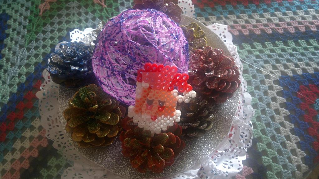 Centro de mesa Navidad by eldesastredemaria