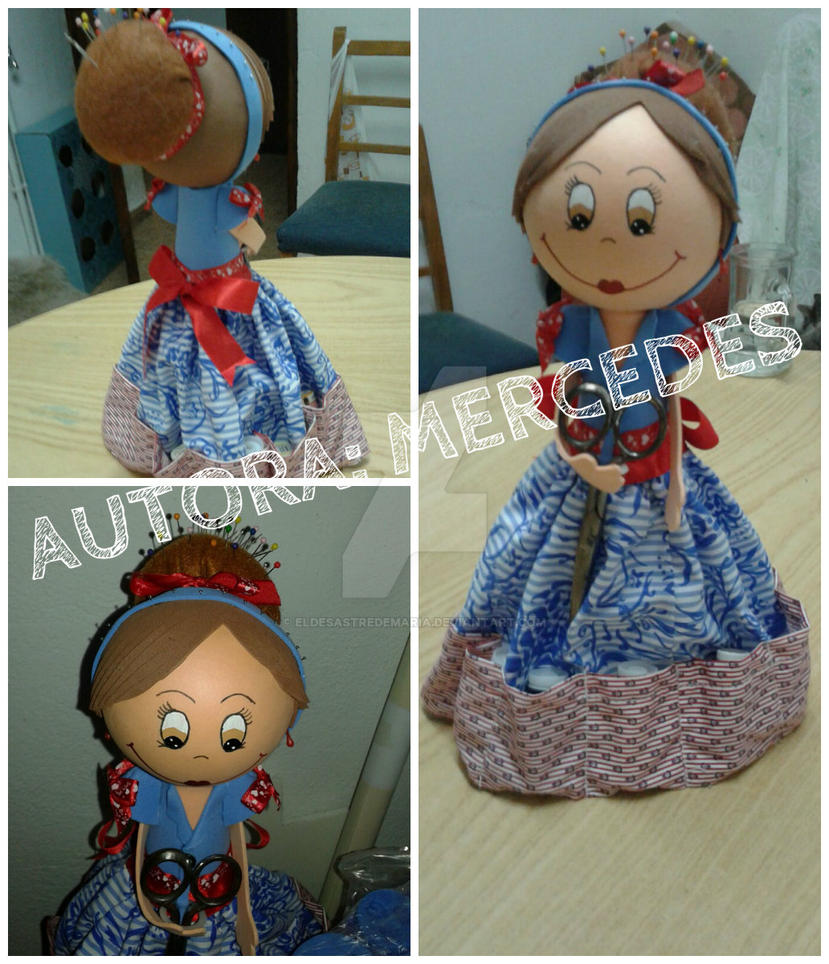 Fofucha de costura DIY [Autora: Mercedes] by eldesastredemaria