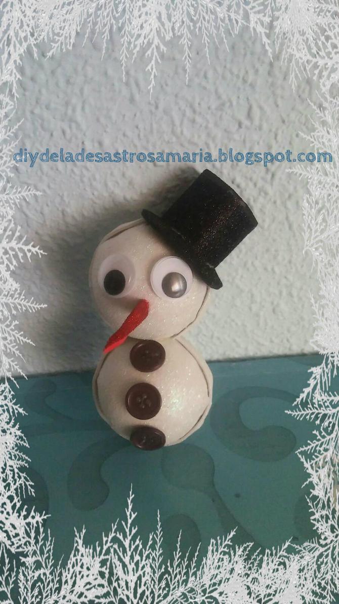 Snowman de goma eva glitter by eldesastredemaria