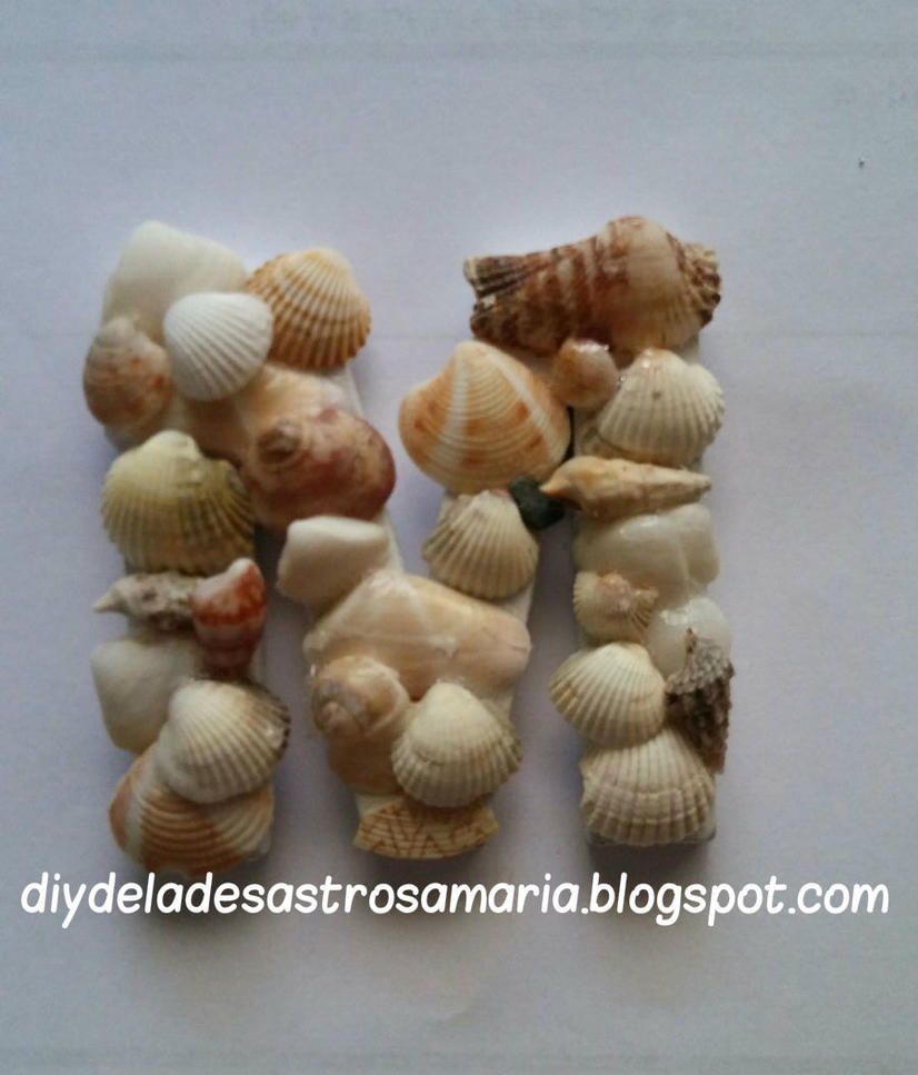 Letra conchas diydeladesastrosamaria.blogspot.com by eldesastredemaria