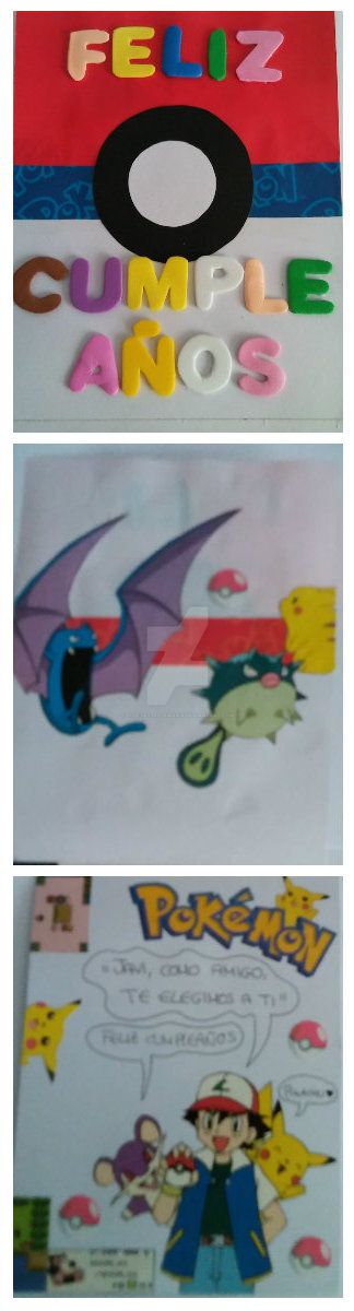 Tarjeta Pokemon Cumpleaos by eldesastredemaria