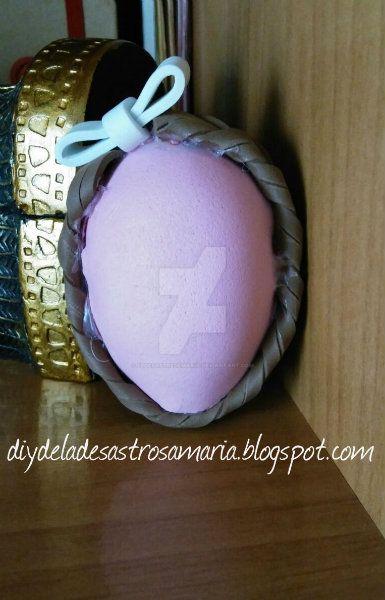 Huevo decorado diydeladesastrosamaria by eldesastredemaria