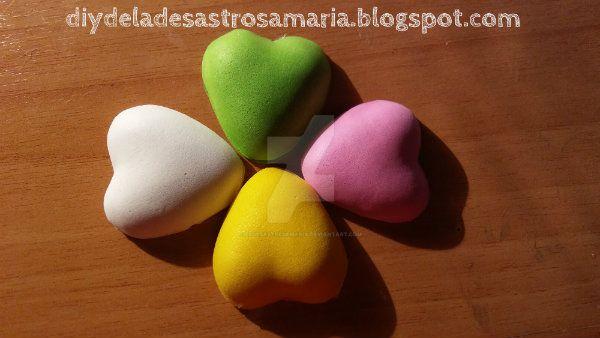 Foami hearts diydeladesastrosamaria by eldesastredemaria
