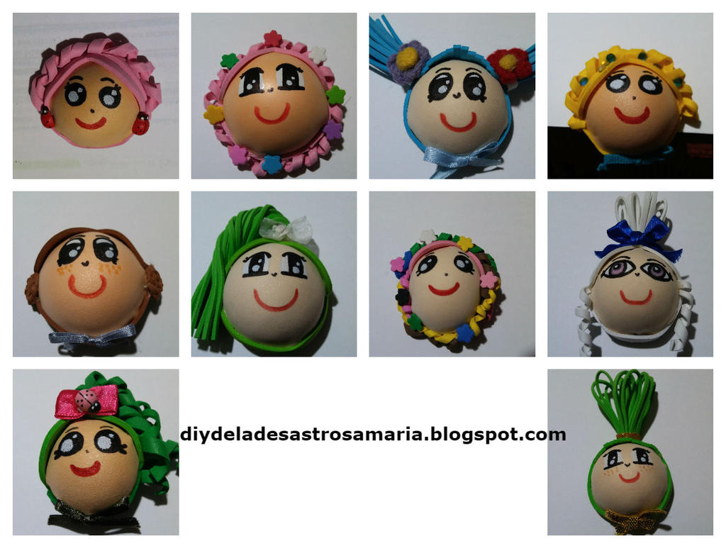 Foami dolls by eldesastredemaria