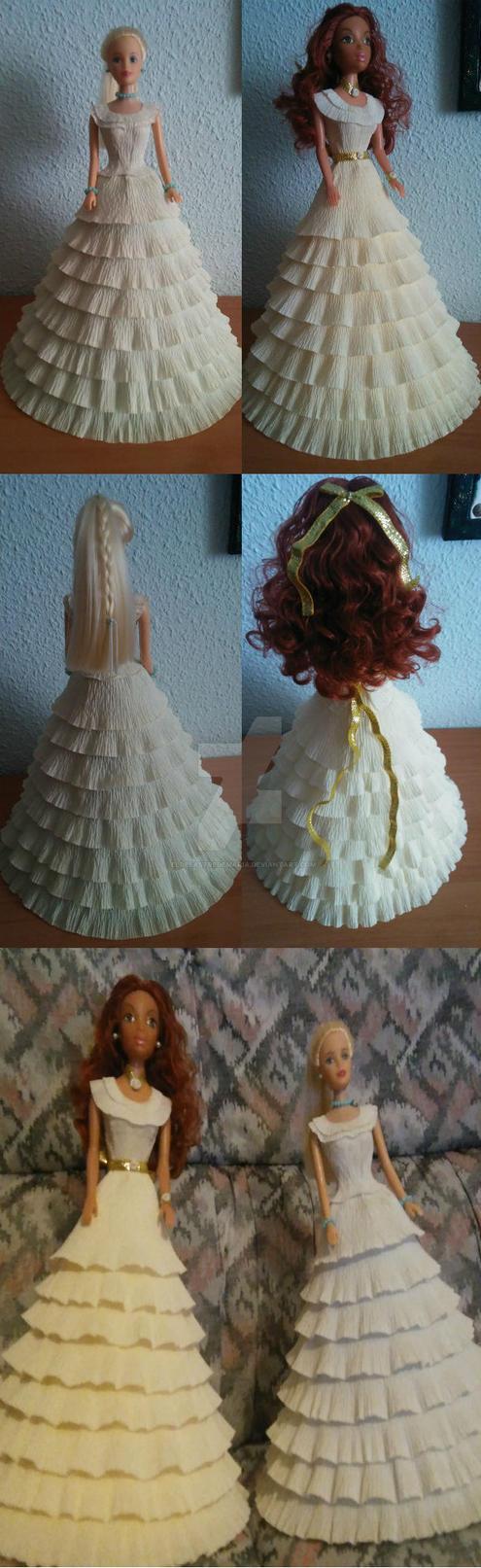 Barbie vestido de papel by eldesastredemaria