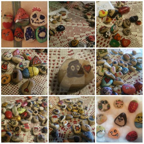 Piedras decoradas - DIY with kids by eldesastredemaria