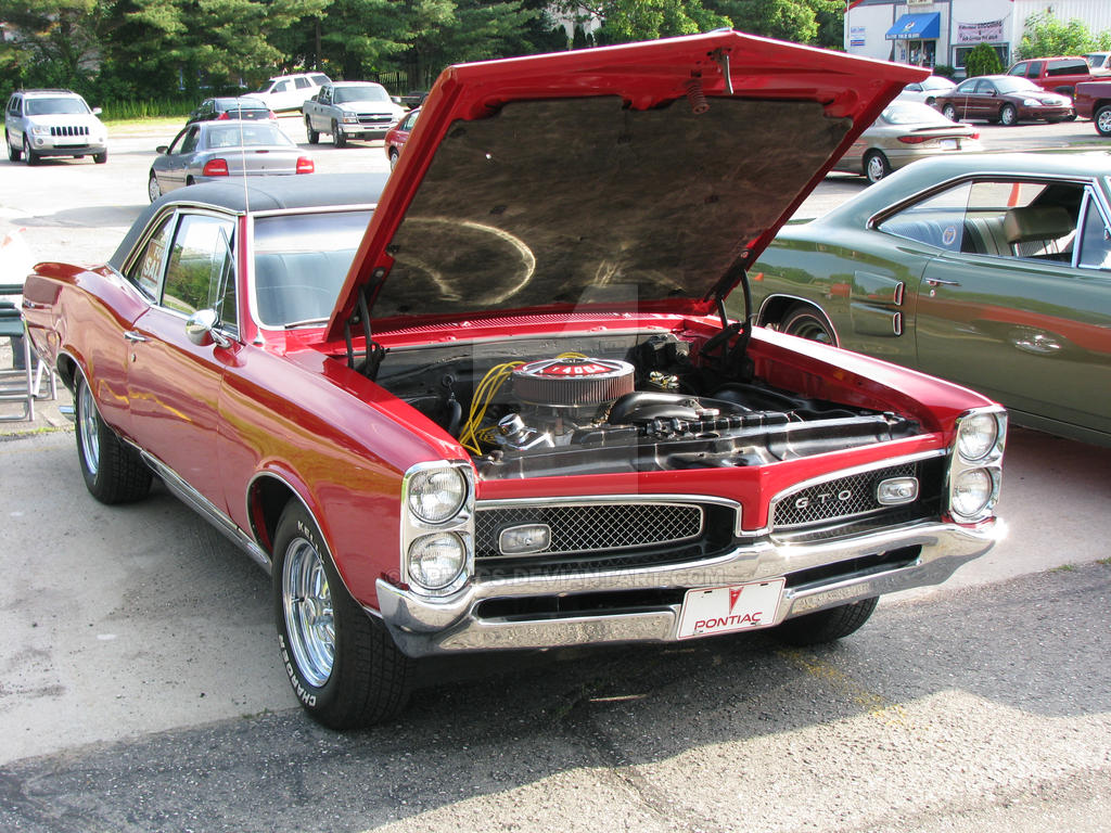 1967 Pontiac Gto Red By Qphacs On Deviantart