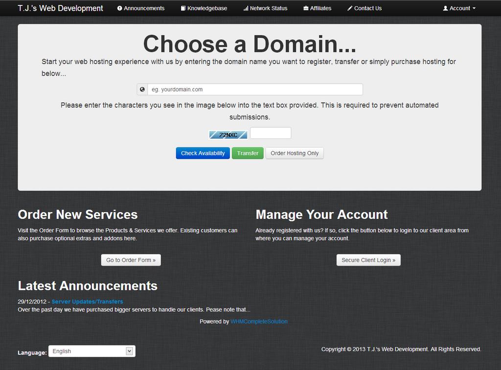 Twitter Bootstrap WHMCS Template by TJsWebDevelopment on DeviantArt