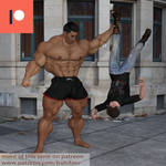 Big boy dominates tiny guy
