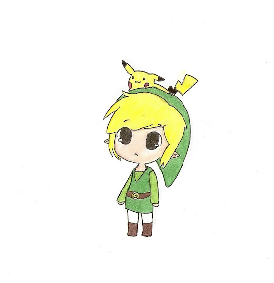 .: Link and Pikachu :. by Goomy-goo