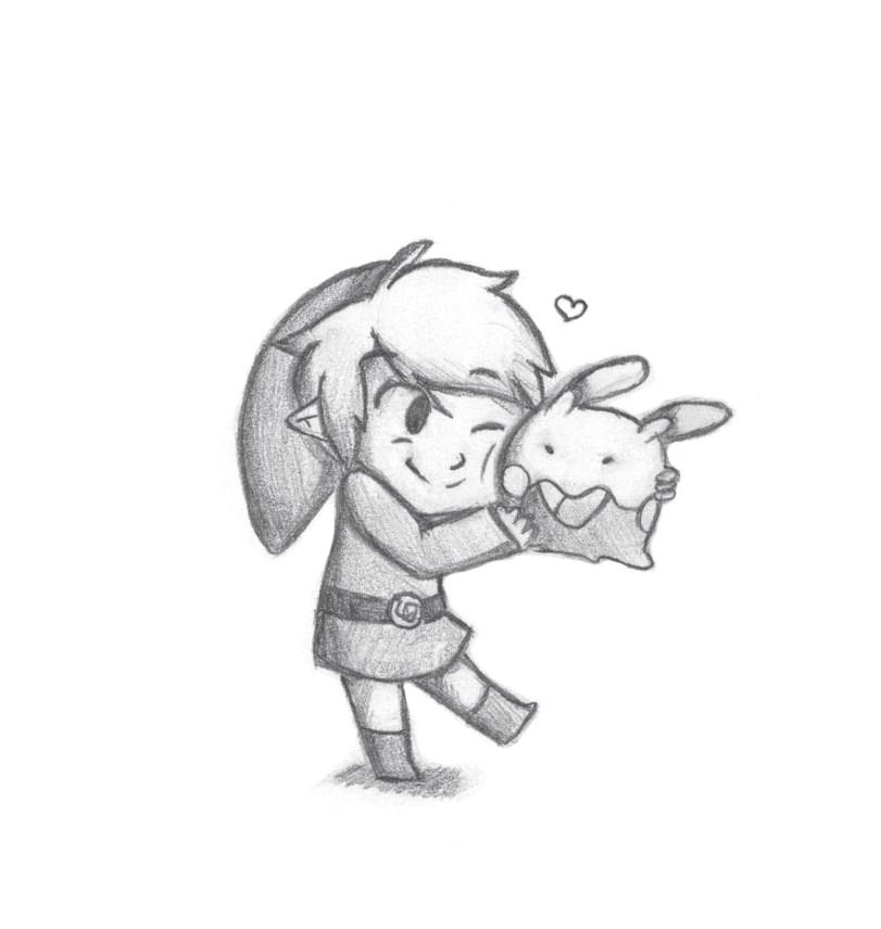 Link and Goomy by InvaderZimlovergirl
