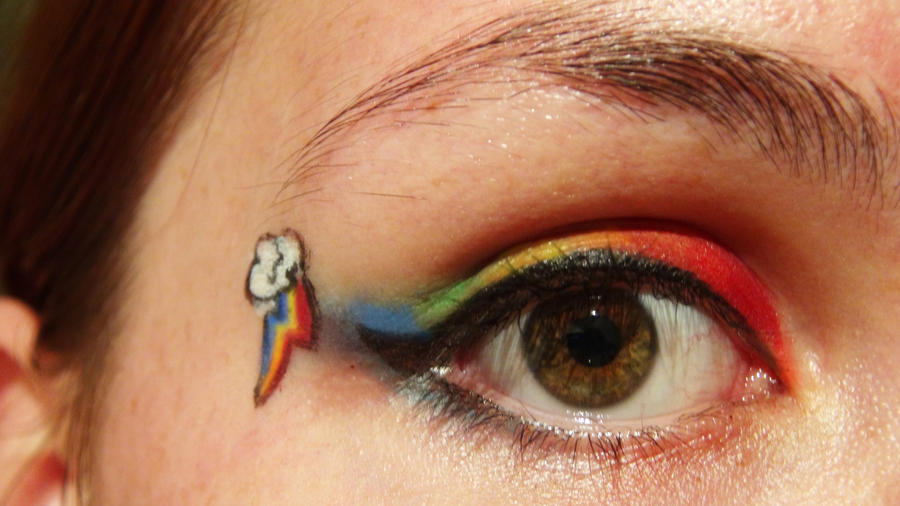 Rainbow dash makeup