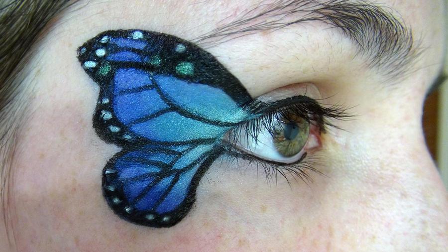 Butterfly eye makeup by eskimogeorge on DeviantArt