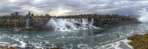 Niagara Falls HDR Panorama by TiKy2010
