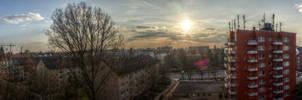 Hamburg Sunset HDR Panorama