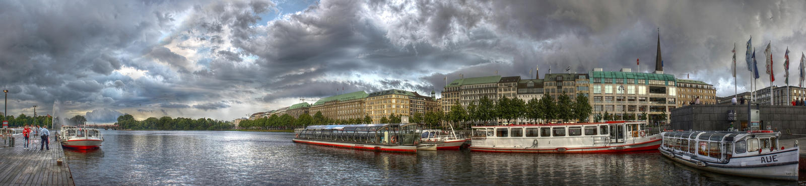 Hamburg Binnenalster Panorama by TiKy2010