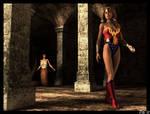 Ultra Woman at Medusa's lair 1