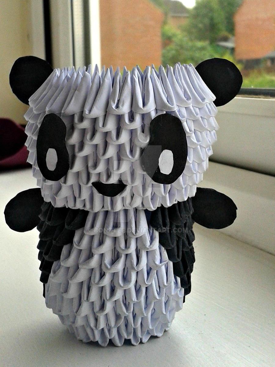 ORIGAMI PANDA :D by bonztee