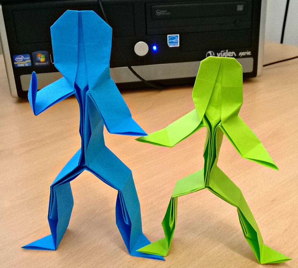 origami stick people by bonztee on deviantart