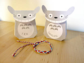 Totoro Gift Bags and Bracelets