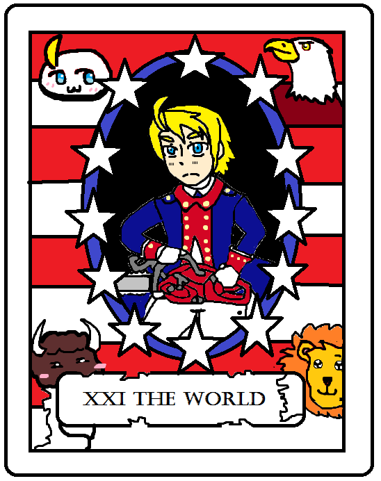 The World, represented by Revolutionary America by PacificIslanderGirl