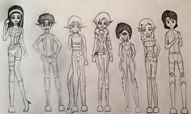 Gamma Team Lineup by LynaKiovote