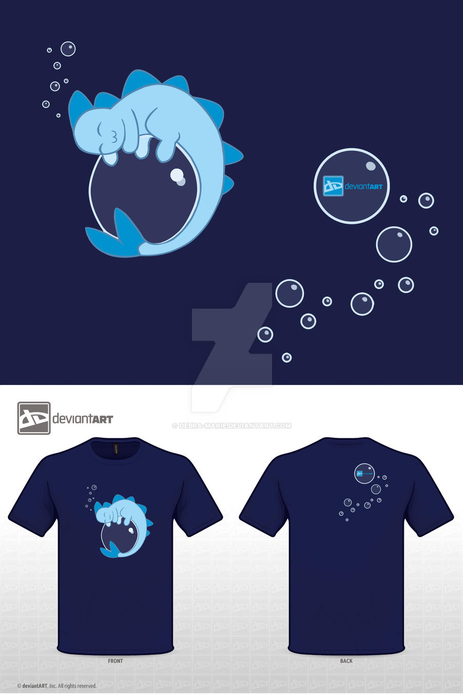 Sleeping Sea Dragon Shirt by Debra-Marie