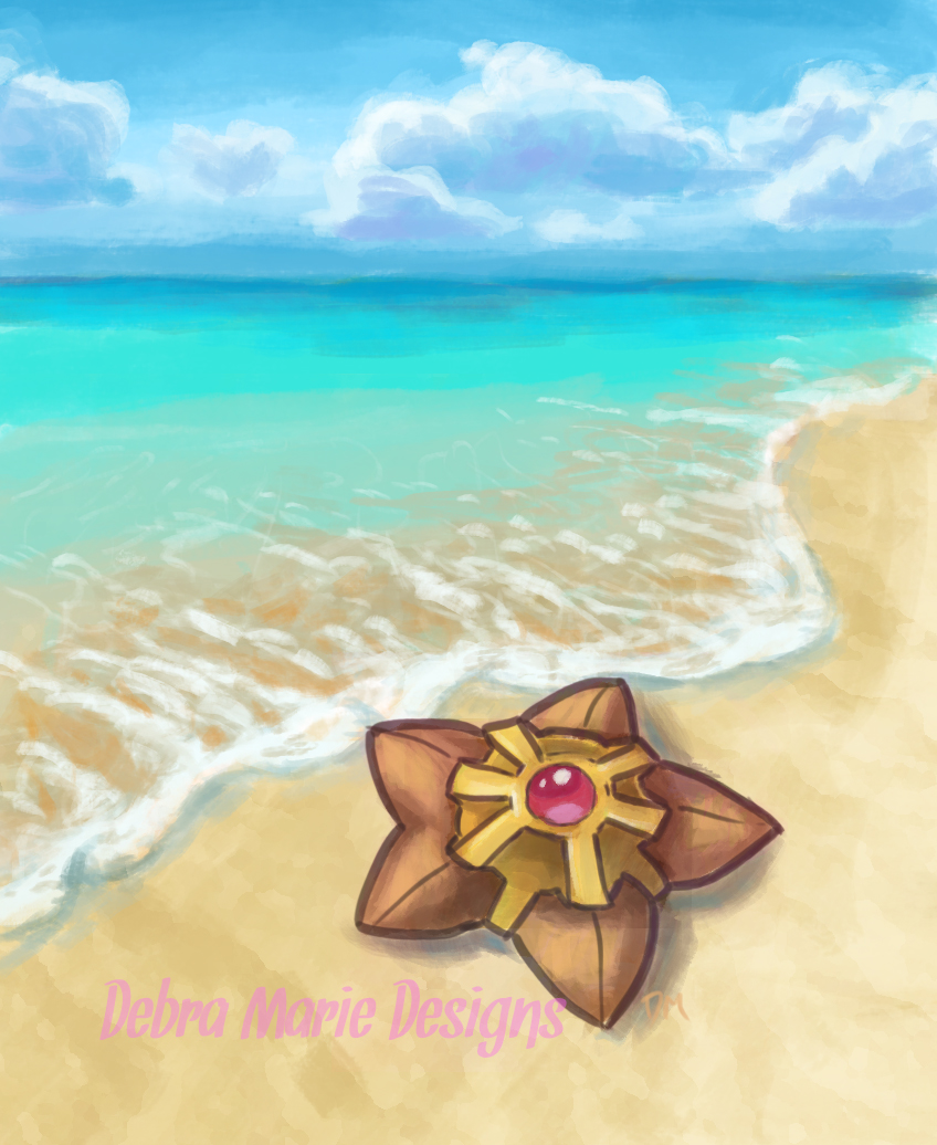 Staryu on the Shoreline by Debra-Marie