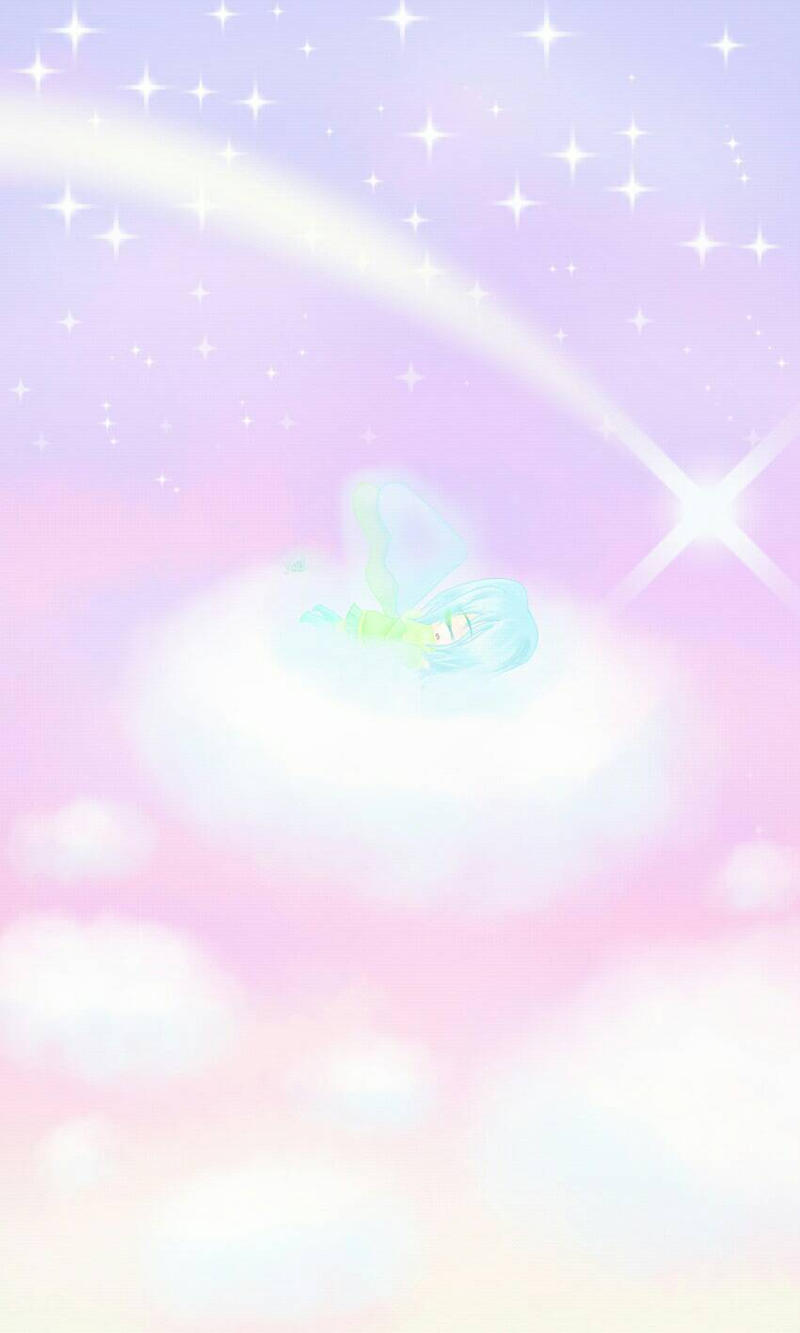 In the clouds... Amber from glitchtale by MissYumii