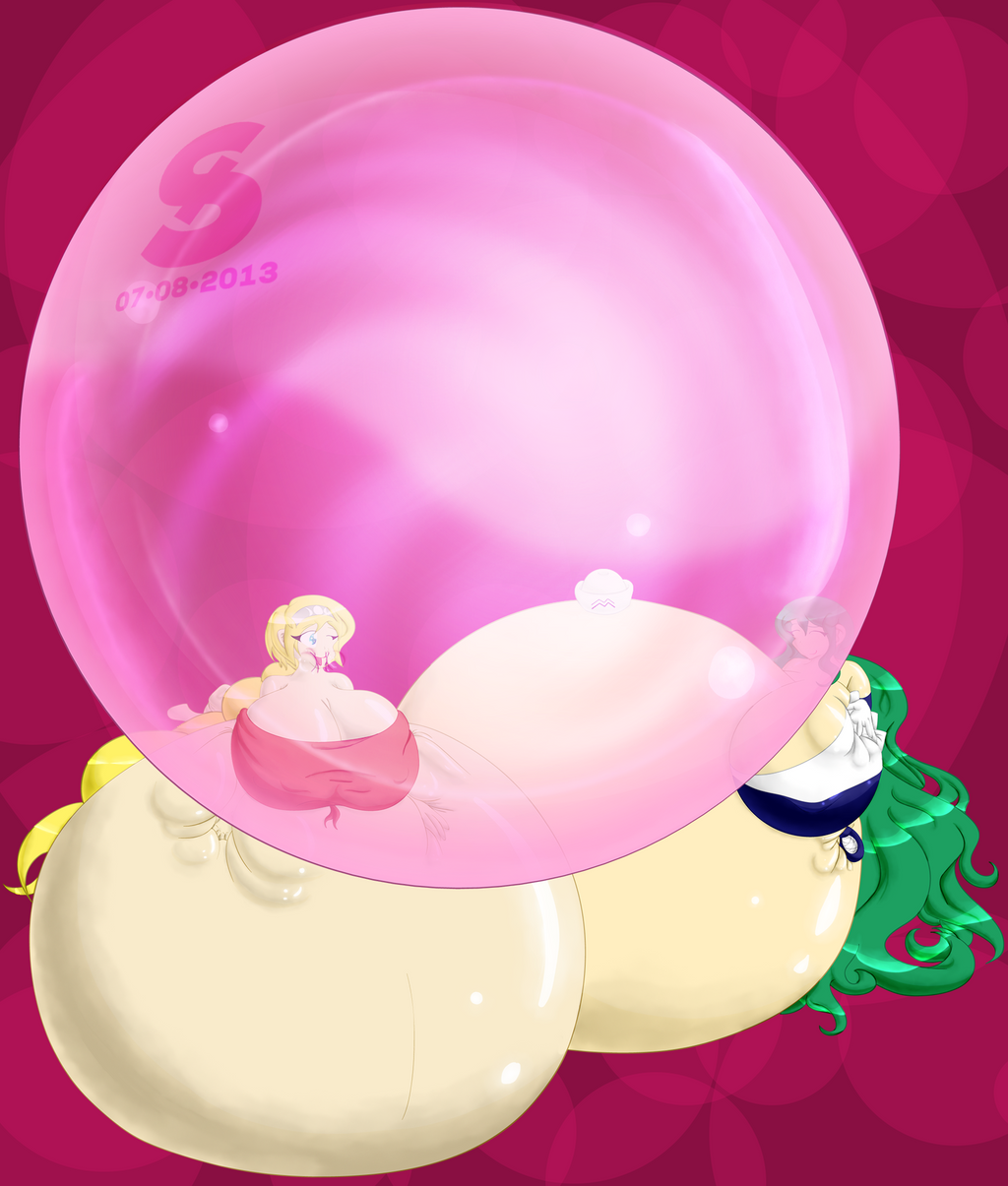 Gloria and Morgan's Bubble Fun by josephstaleknight
