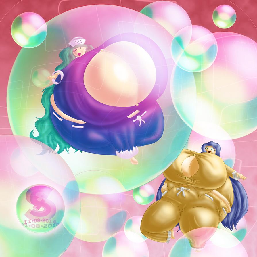 Morgan and Marcy's Pajama Balloon Fun by josephstaleknight