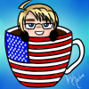 Hetalia Cup Icon~ America by Nuit-Luna