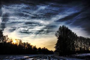 Ratingen Winter - Sunset by Katerianer