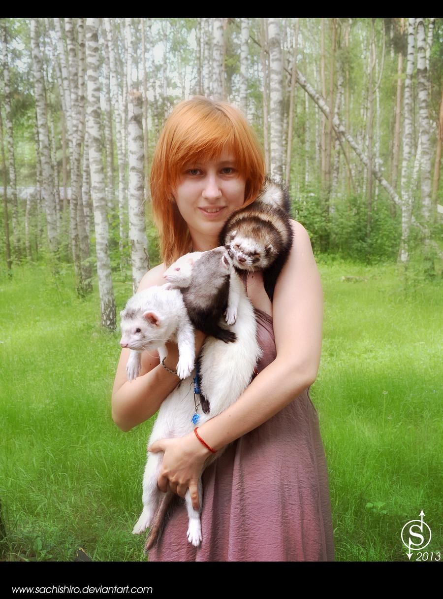 Вы в реальной жизни My_ferrets_and_i_by_sachishiro-d67nc59