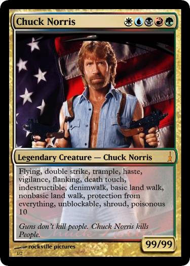 Chuck Norris Custom mtg Vintage Style Proxy Card