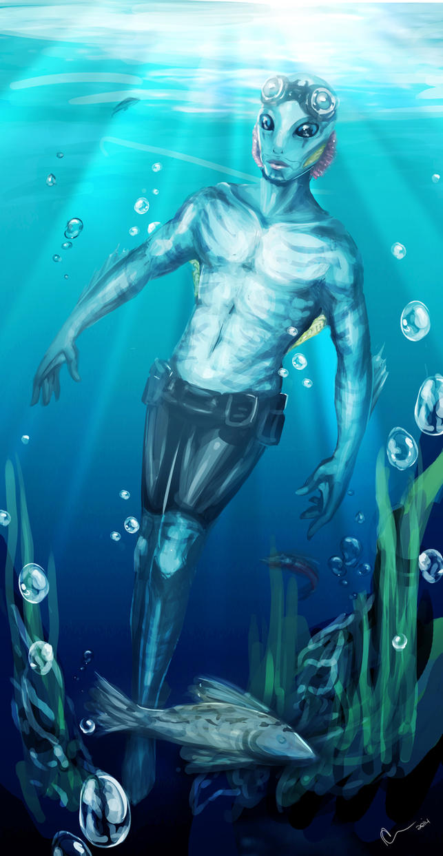 Abe Sapien by CatCrackers69
