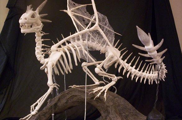 same ceramic dragon skeleton