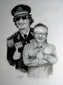 Khadaffi and Kim Jong Il