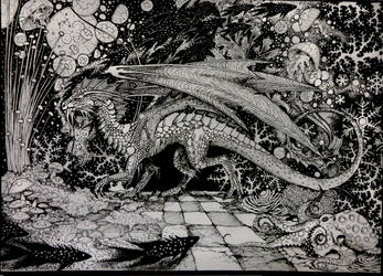 ink drawing of ALL the things