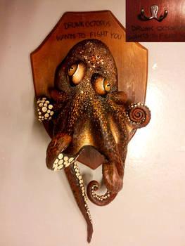 Drunk octopus latex sculpture