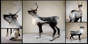 Needle felted reindeer by earfox
