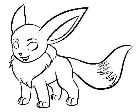 Free to Use Pokemon Images Eevee_Lineart_by_thezules