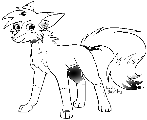 PerfectFill Fox Lineart Template for MS Paint by zurisu on DeviantArt