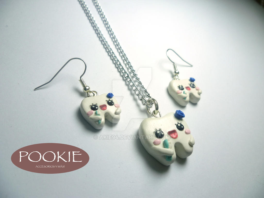 gran descuento b6e68 12e1d Aretes y collar de dientes. Earrings. Necklace by akie94 on ...