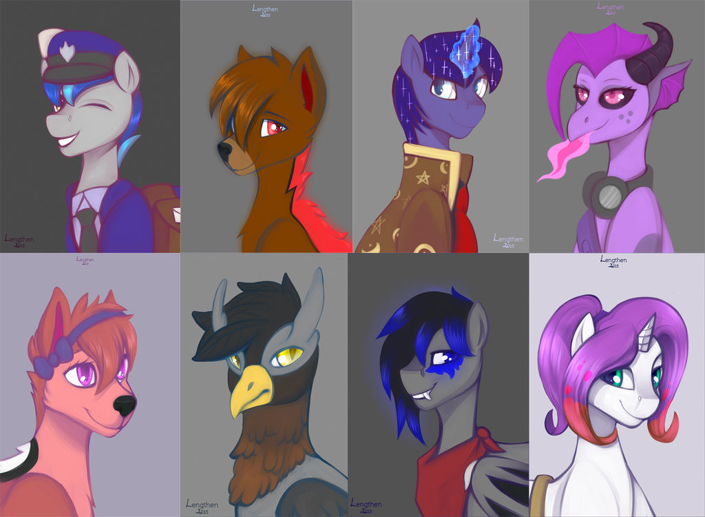 Pack of portraits for Chris9801 by RISTERDUS