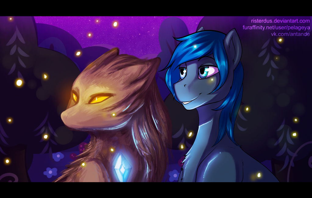 Looking to moon by RISTERDUS