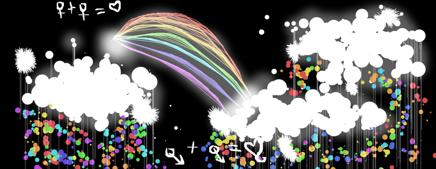 Embrace the rainbow by Feji