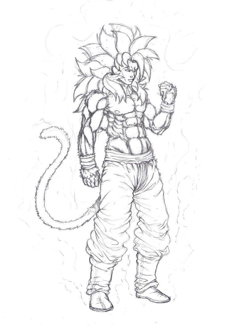 Goku Super Saiyan 4 Coloring Pages Coloring Pages