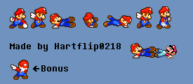 MLSS Mario SSBB Down smash attack sprite sheet by Hartflip0218